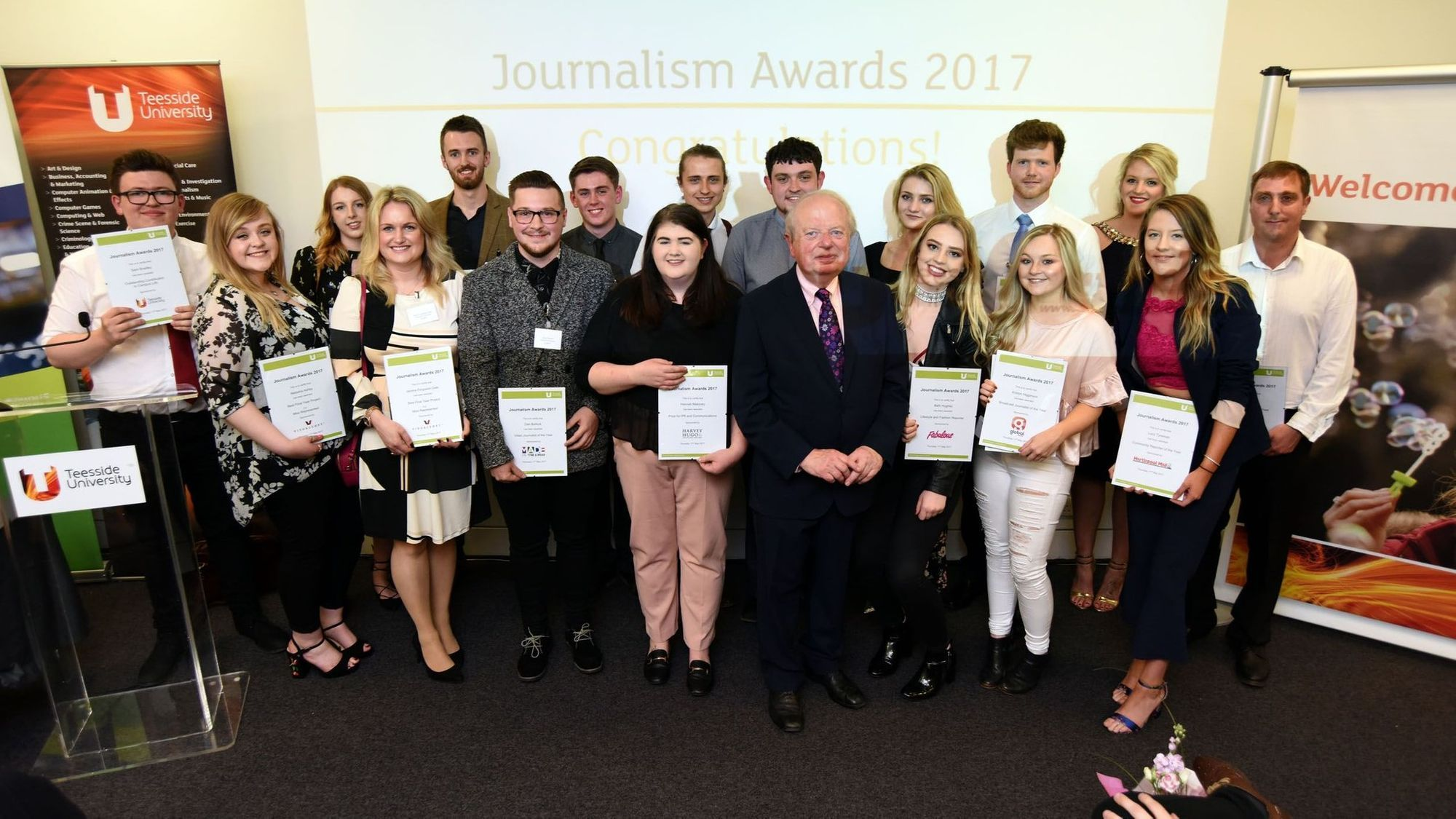 Teesside University Journalism Awards 2017