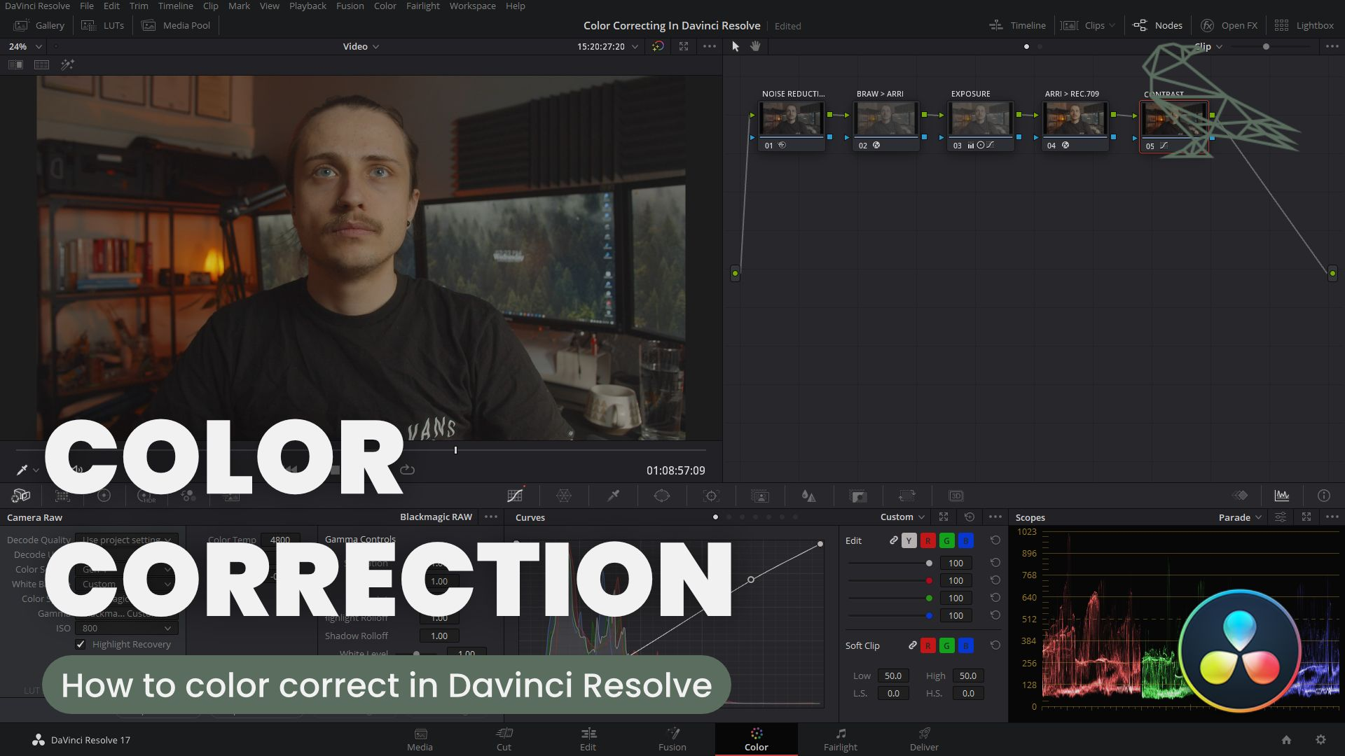 How To Color Correct In Davinci Resolve